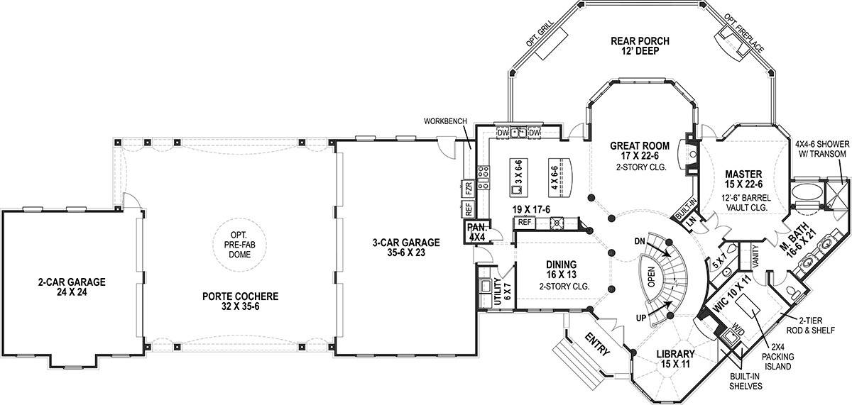 1st Floor Plan image of Lady Rose House Plan