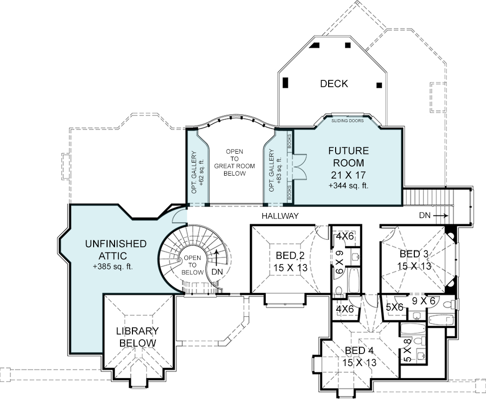 Second Floor Plan image of Pontarion II House Plan