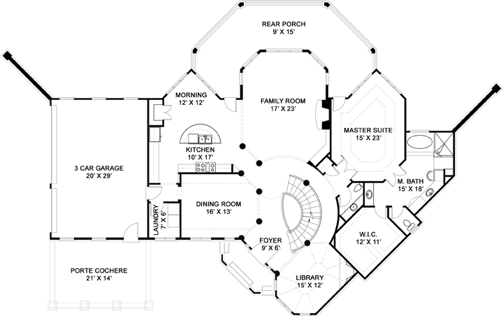 First Floor Plan image of Salem House Plan