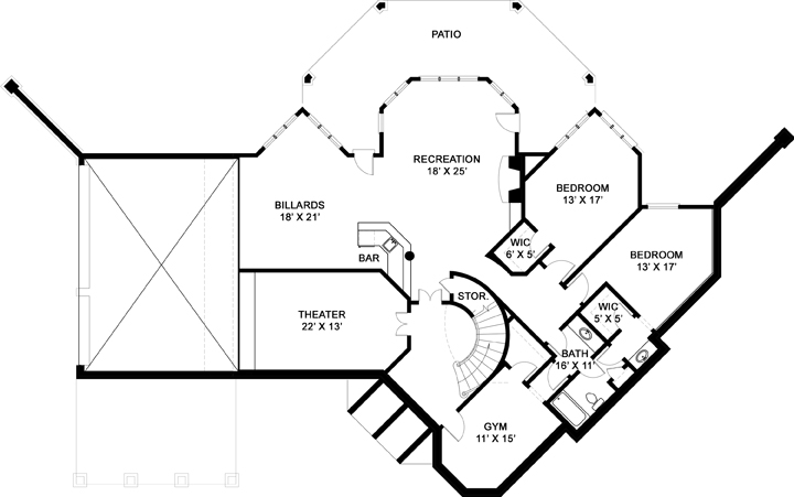 Basement image of Salem House Plan