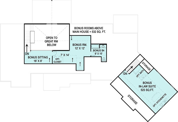 Second Floor Plan image of Marymount House Plan