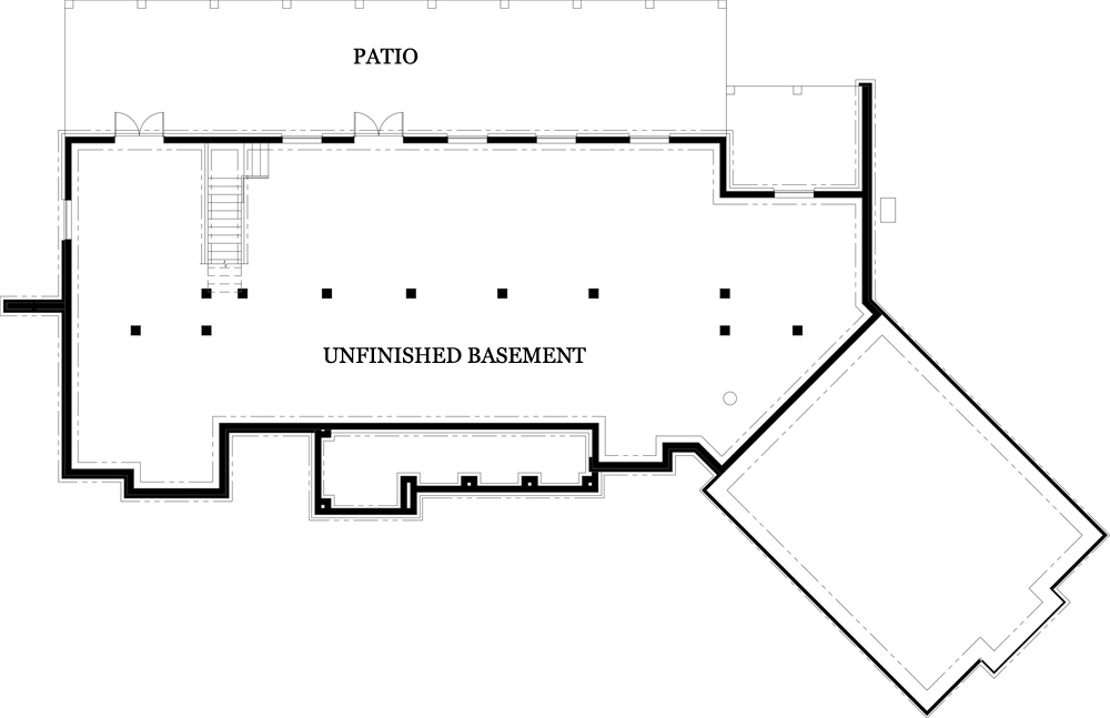 Unfinished Basement image of Tres Le Fleur House Plan