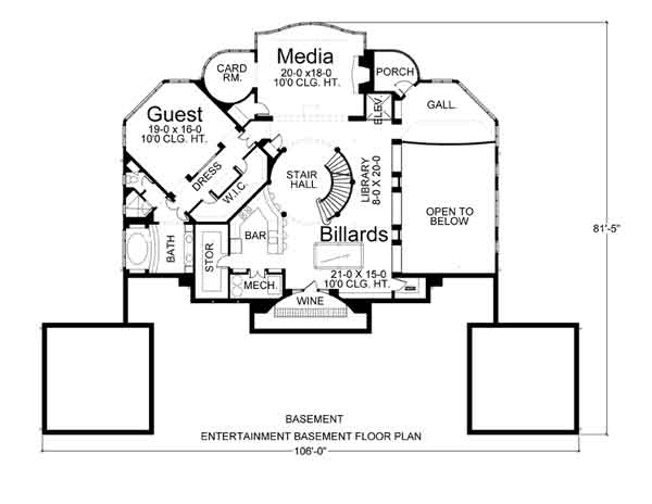 House villa capri house plan green builder house plans for Capri floor plan