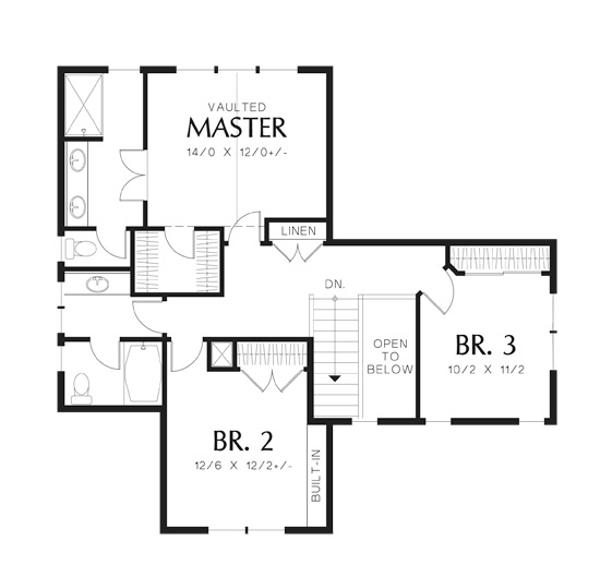 Second Floor Plan image of Central House Plan