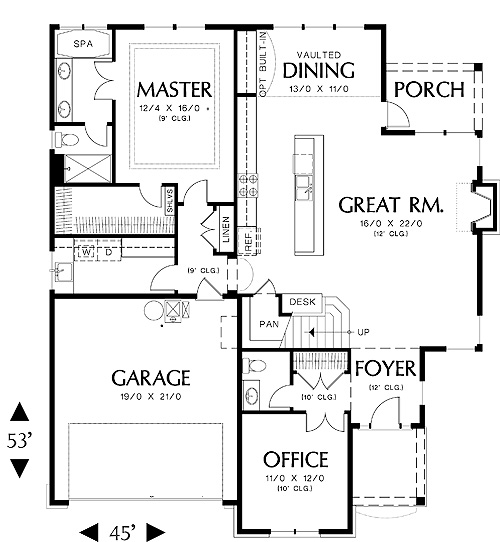 First Floor Plan image of Stratham House Plan