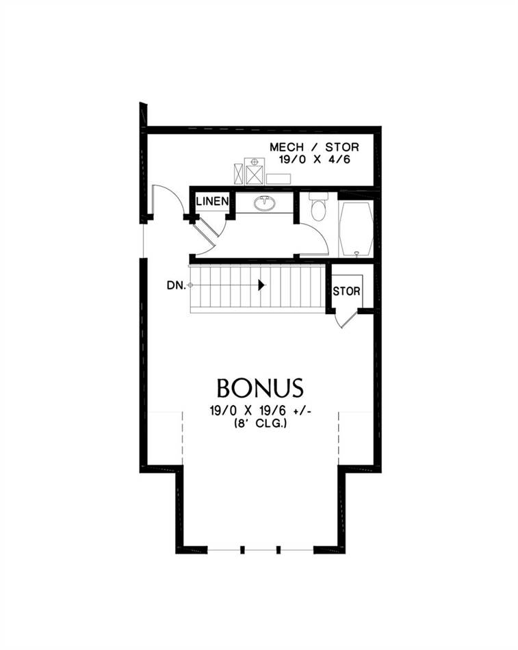 Upper Floor Plan image of Macchiato House Plan