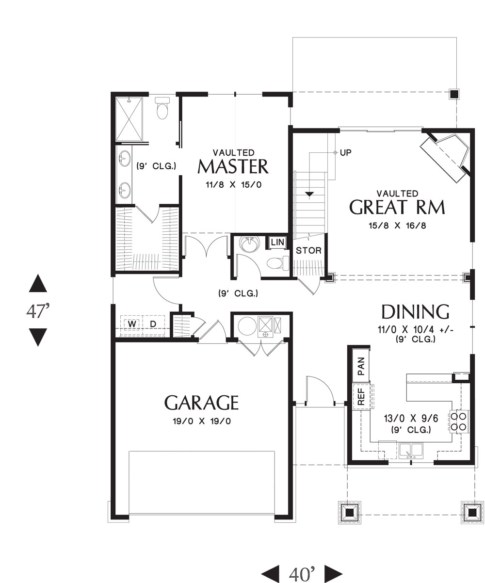 1st Floor Plan image of Halifax House Plan