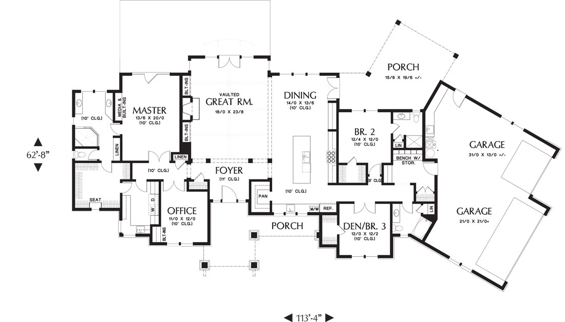 1st Floor Plan image of Whitworth House Plan