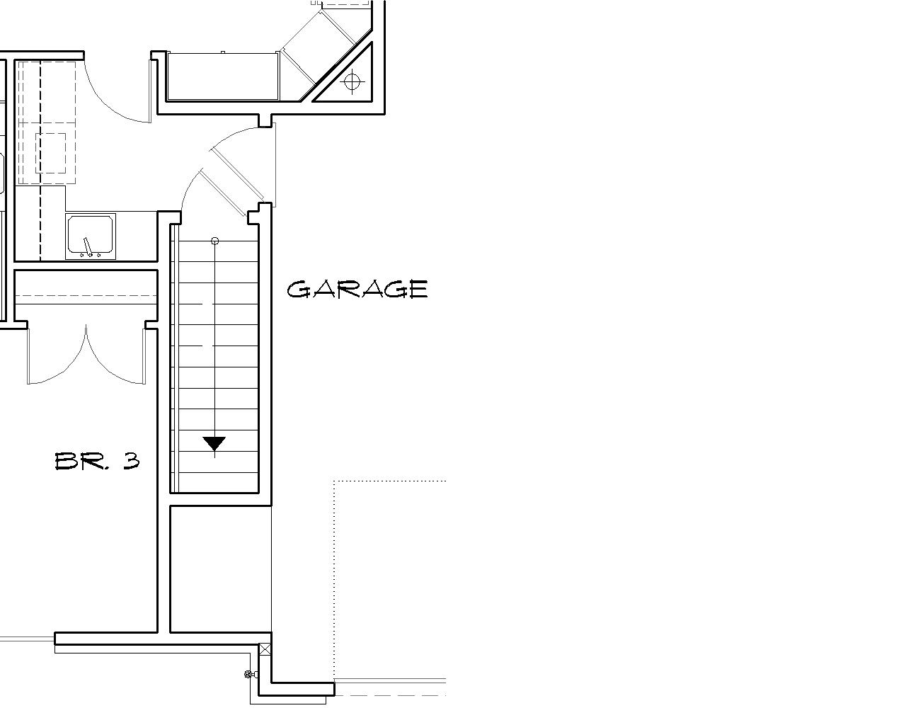 Basement Stair Location image of South Hampton House Plan