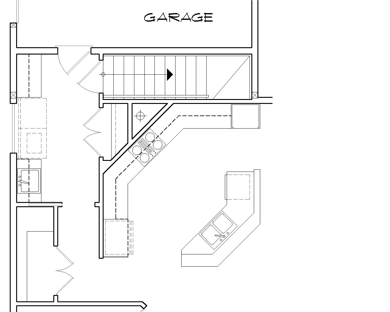 Basement Stair Location image of Glastonburg House Plan