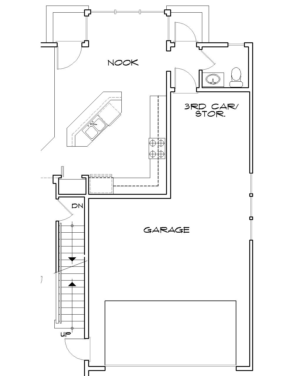 Basement Stair Location image of North Andover House Plan