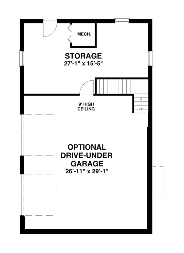 Basement Plan image of The Shadowbrook House Plan