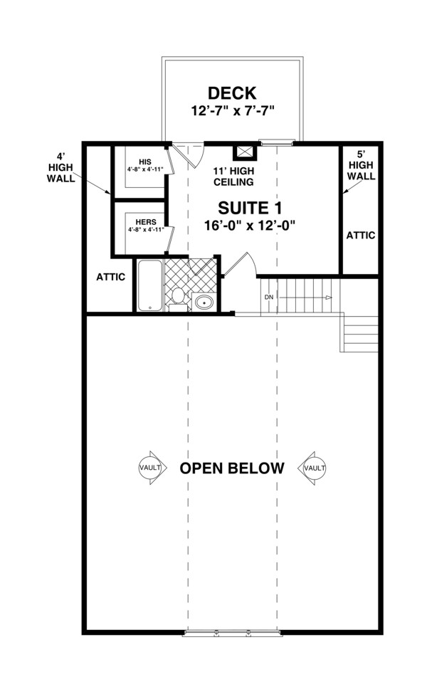Upper Level Floorplan image of The Shadowbrook House Plan