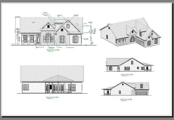 House Floor Plan With Dimensions And Elevations Floor Plan