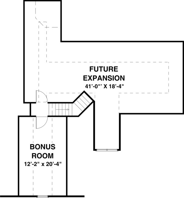 Bonus Room image of The Falls Church House Plan