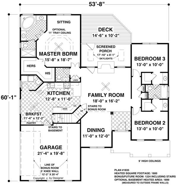 Main Level Floor Plan image of The Falls Church House Plan