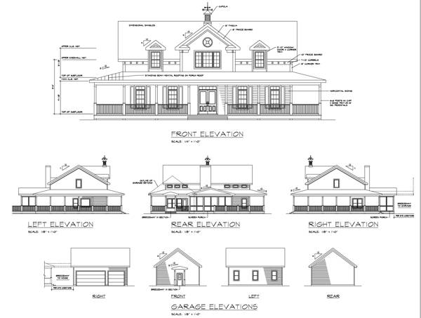 Rear Elevation image of The Smithfield House Plan
