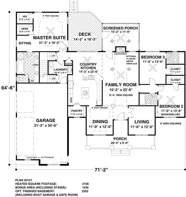 Floor Plan image of The Long Meadow House Plan