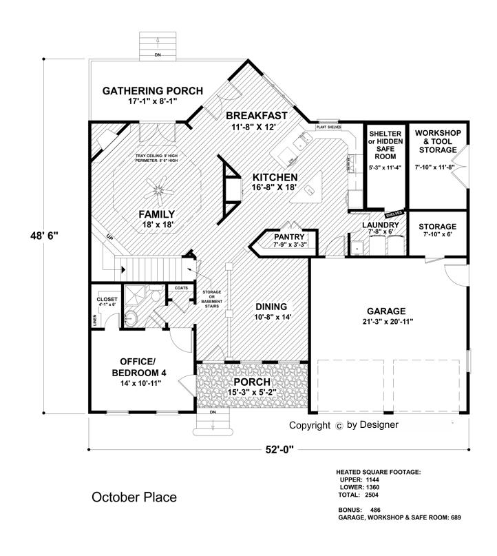 Lower Level Floorplan image of October Place House Plan