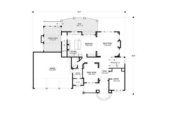 Main Level Floor Plan image of Big Stone Ridge House Plan