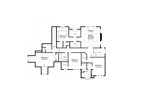 Upper Level Floorplan image of Big Stone Ridge House Plan