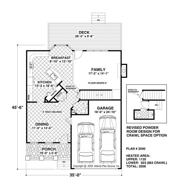 1st Floor image of The Andover House Plan