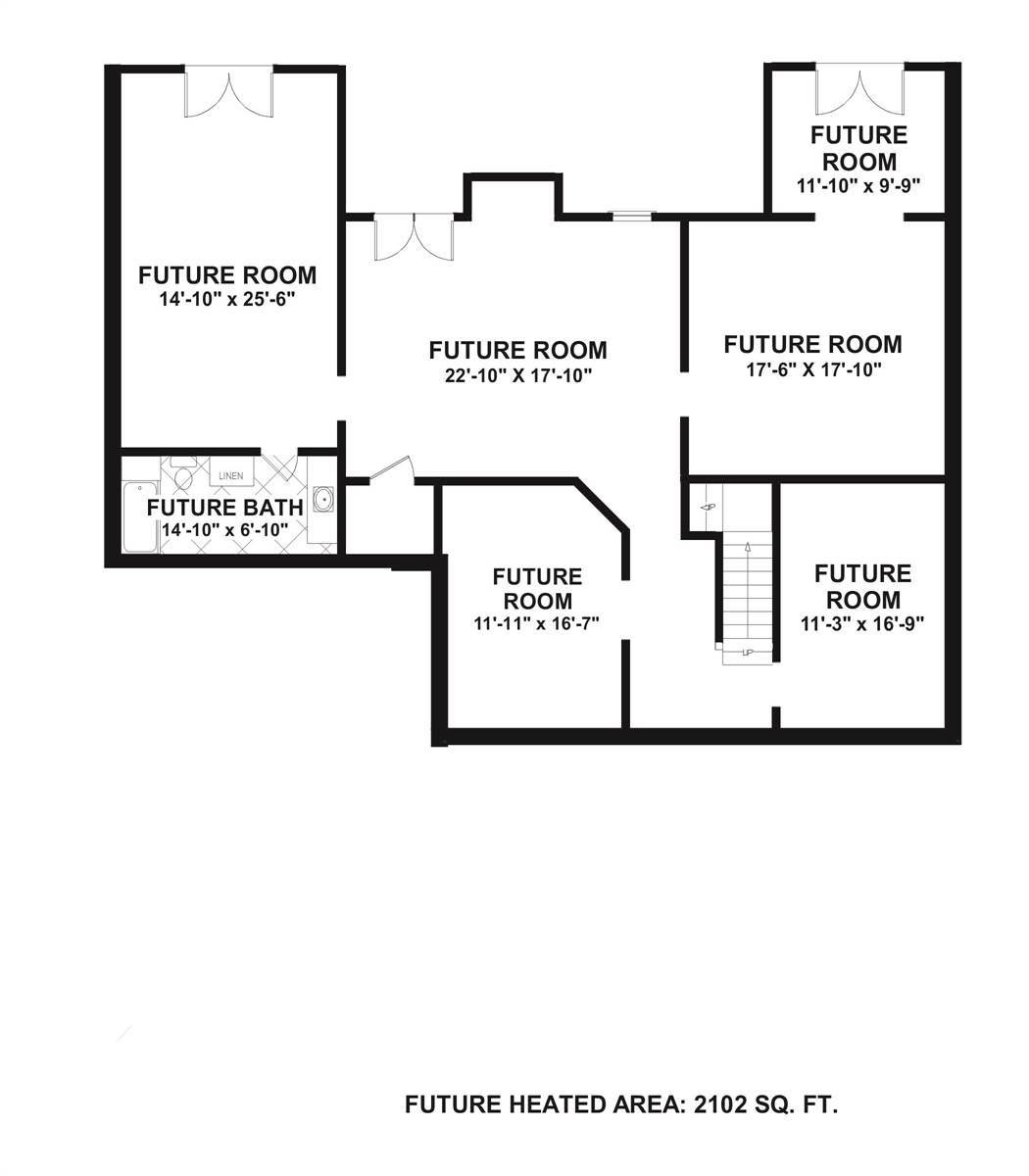 Basement Plan image of Meridian Bay House Plan