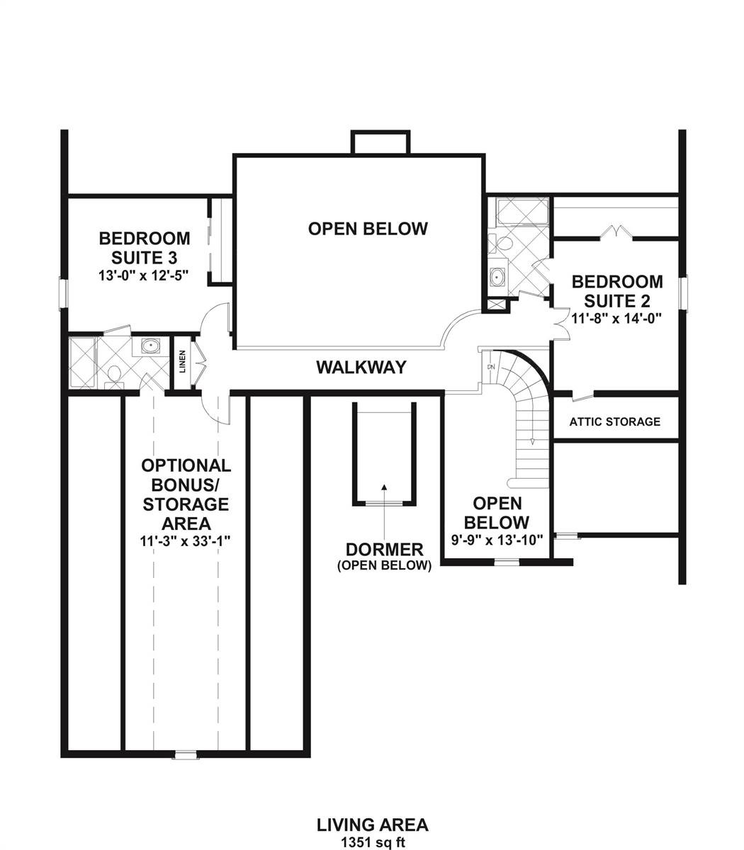 2nd Floor image of Meridian Bay House Plan