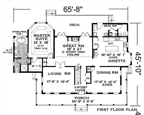 Fist Floor image of Great Home House Plan