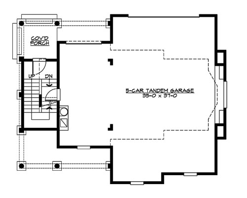 Main Floor image of Astoria Cottage House Plan