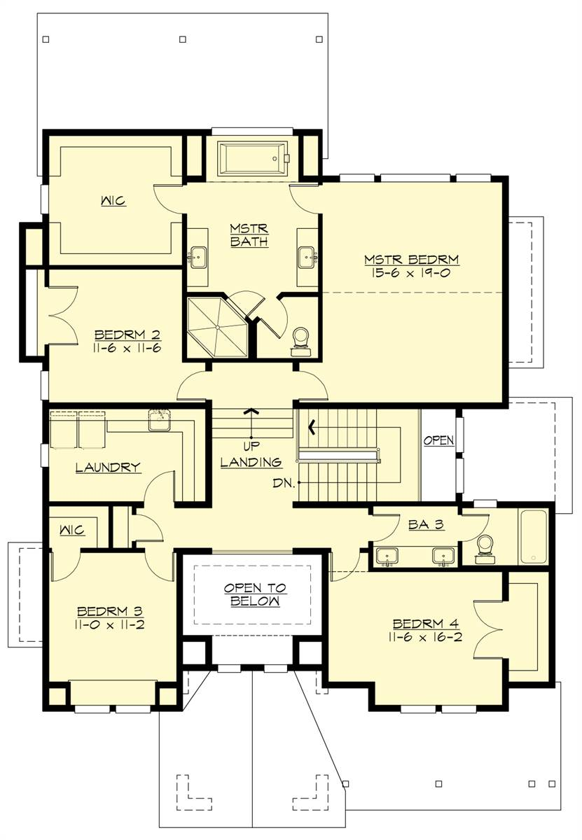 Upper Floor Plan image of Loganberry House Plan