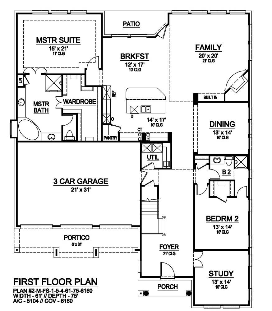 First Floor image of Savannah Valley House Plan