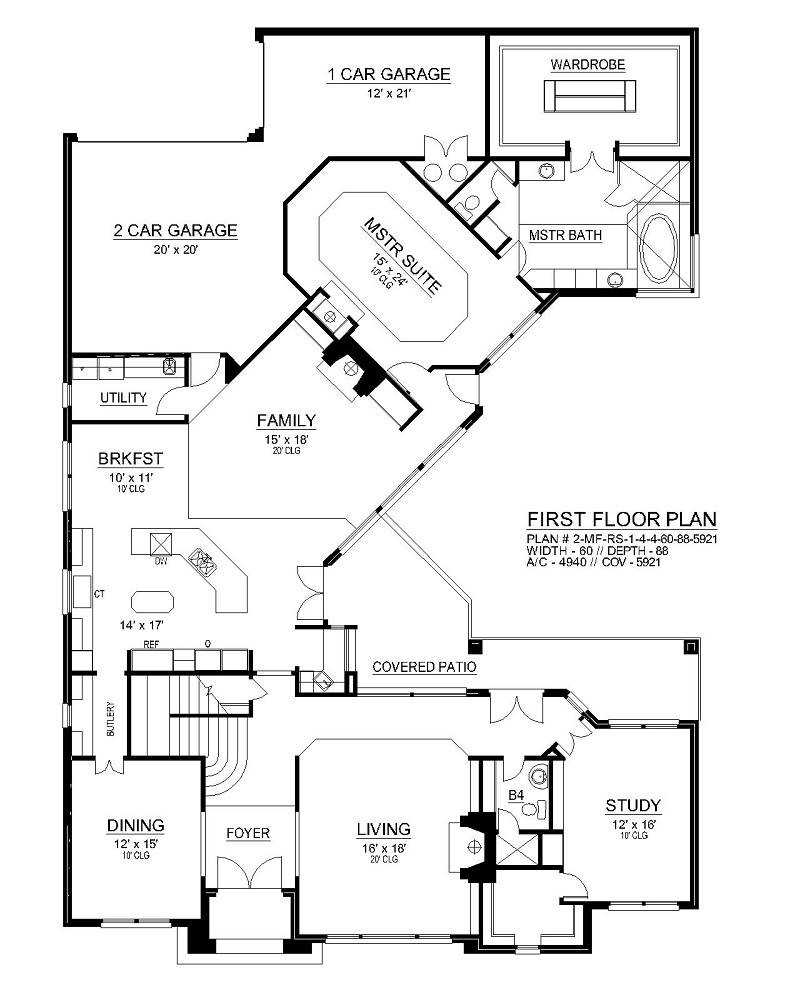 First Floor image of Shady Oaks House Plan