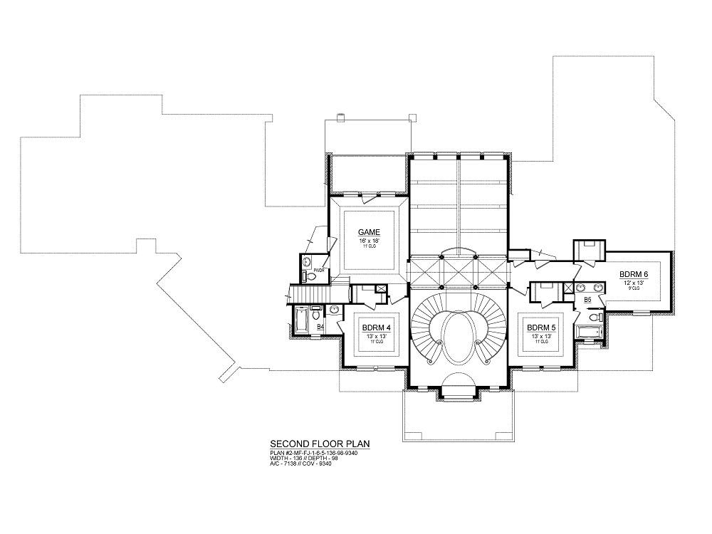 Second Floor image of Torrey Pines House Plan