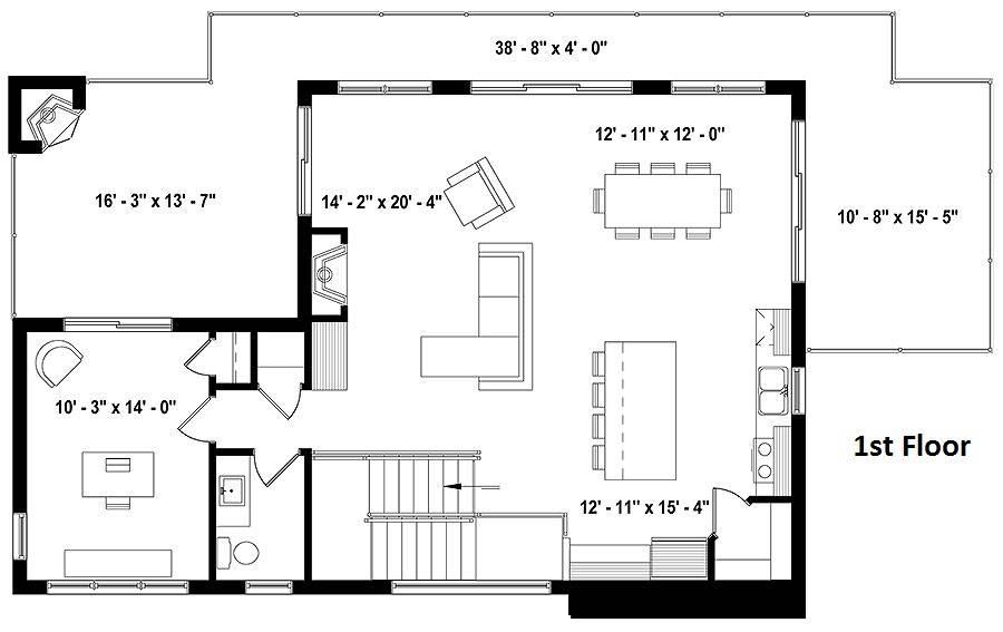 1st Floor Plan image of Oslo House Plan