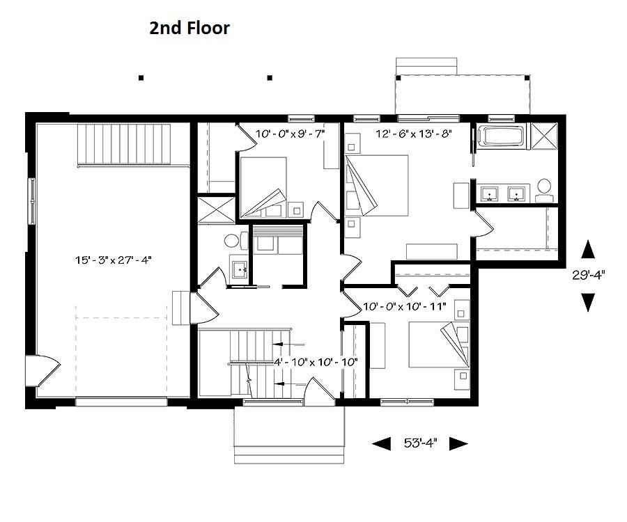 2nd Floor Plan image of Oslo House Plan