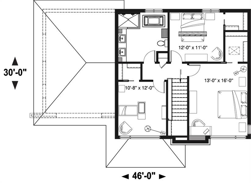 2nd Floor Plan image of Bellechasse 2 House Plan