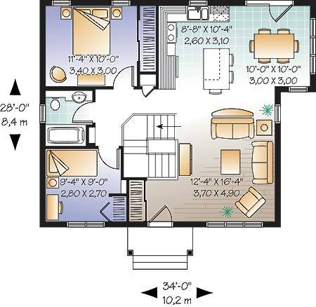1st Floor Plan image of Emmit House Plan
