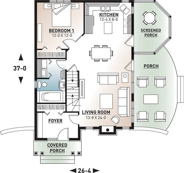 1st Floor Plan image of Cape Pelican 2 House Plan