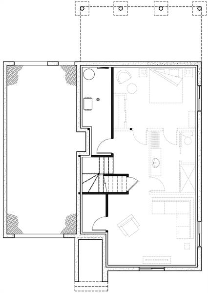 Basement image of Augusta 2 House Plan