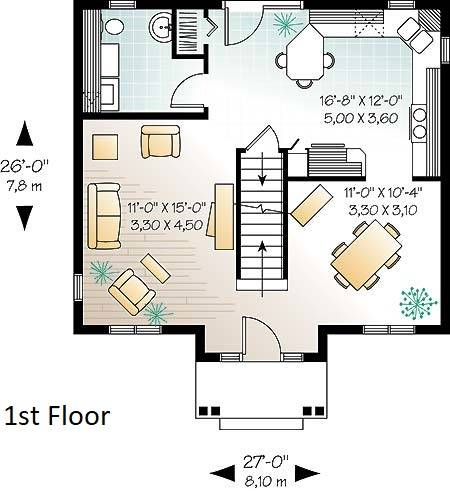 1st Floor Plan image of Duranel 4 House Plan