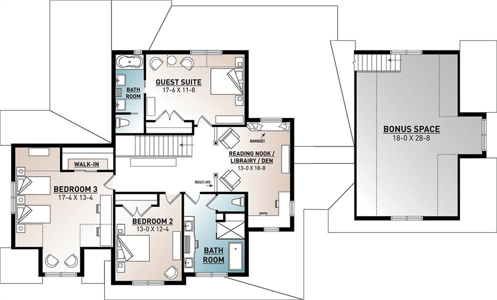 2nd Floor Plan image of Midwest 2 House Plan