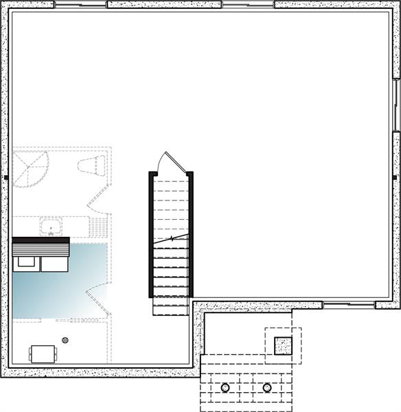 Basement image of Kimiko House Plan