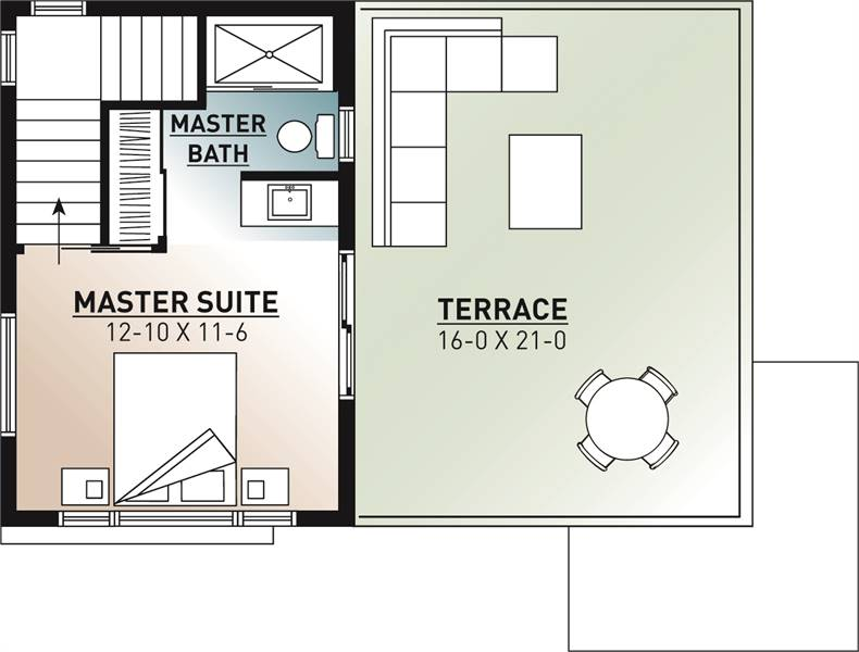 2nd Floor Plan image of Joshua House Plan