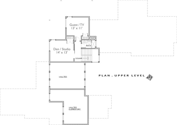 2nd Floor image of Luxury Contemporary House Plan