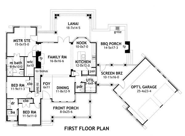 Expansive Lanai (HWBDO12119) | Mediterranean House Plan from