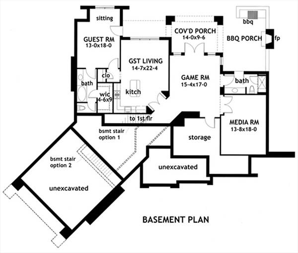 Basement Plan image of L'Attesa di Vita House Plan