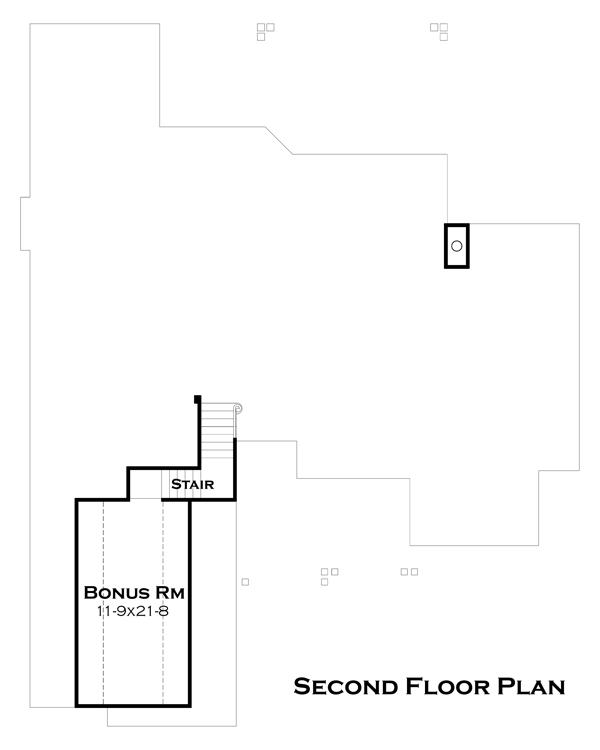 Second Floor Plan image of Lado del Rio House Plan