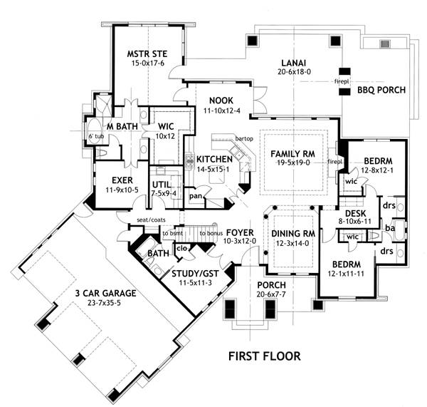 First Floor Plan image of La Meilleure Vie House Plan