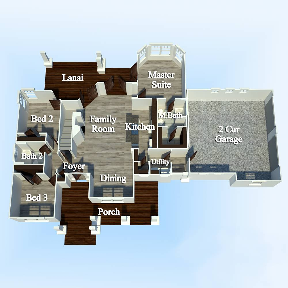 First Floor Plan image of Merveille Vivante Small House Plan